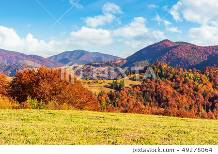 autumn countryside in mountains 49278064