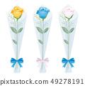 一朵玫瑰上升了三種顏色 49278191
