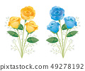 黃色玫瑰藍色玫瑰 49278192