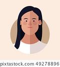 woman face cartoon 49278896