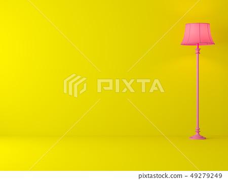 Minimal style yellow room 3d render 49279249