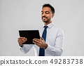 indian businessman with tablet pc computer 49283738