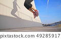 woman sport and rope skipping 49285917