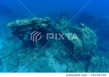 오가사와라 兄島의 난파선 운해 원 49286300