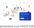 Find your route - colorful isometric web banner 49287108