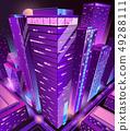 Modern skyscrapers buildings isometric vector 49288111