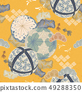Japanese temari ball pattern vector.  49288350