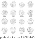 Natural disaster icons collection 49288445