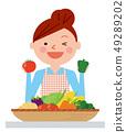 婦女菜例證傳染媒介 49289202