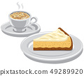cheesecake and cappuccino 49289920