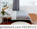 床和被子,窗簾 49290132