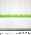 Interior grass wood background 49290354