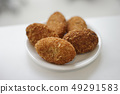 Fried croquettes perming stock Photos-photolibrary 49291583