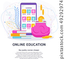 Online education is economical. Flat vector cartoon concept. 49292974
