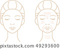 Wrinkled Woman Before After Line Art 49293600