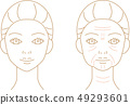 Wrinkled Woman Before After Line Art 49293601