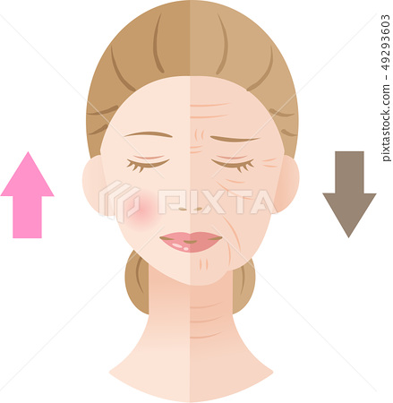 Wrinkled Woman Before After 49293603