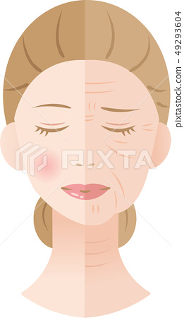 Wrinkled Woman Before After 49293604
