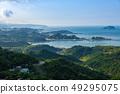 Ocean coastline view, Jiufen, Taiwan 49295075