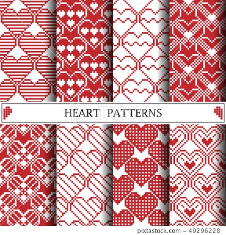 heart pixel vector pattern for web page background 49296228