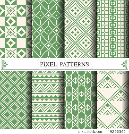 Thai pixel pattern for making fabric textile or 49296362