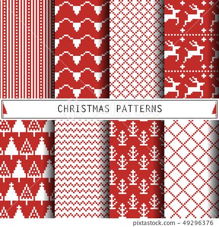 Christmas Patterns. Set of winter holiday 49296376
