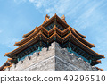 Chinese Palace. Beautiful old design roof. 49296510