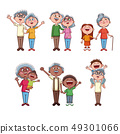 Set of grandparents with kids 49301066