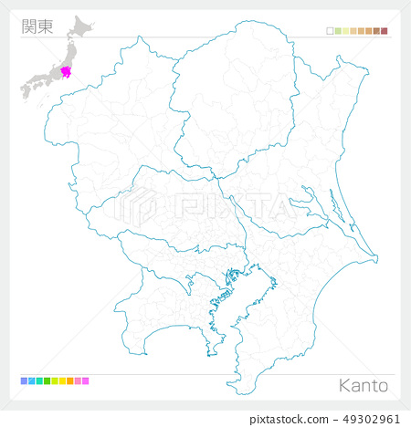 Map of Kanto, Kanto (white map style) 49302961