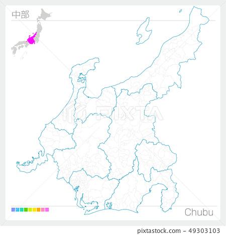 중부지도 · Chubu (백지도 바람) 49303103