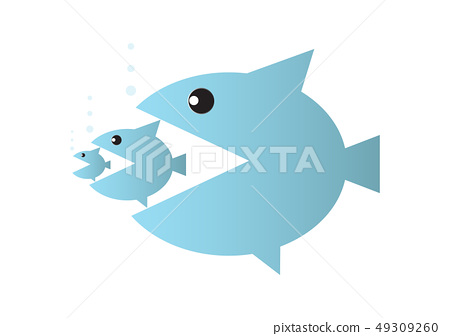 Big fish eats small fish 49309260