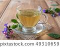 Herbal tea with fresh lungwort, or pulmonaria 49310659