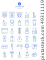 30線圖標集 - 化妝品 49311119