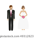 man and woman character bride and groom 49312623