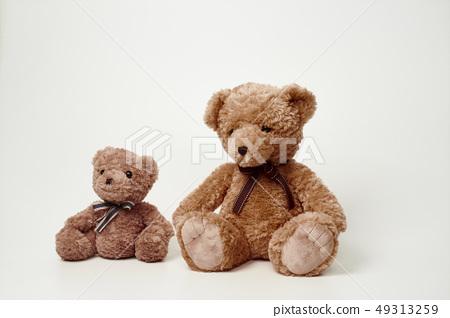 화이트 배경에 놓인 곰인형 49313259