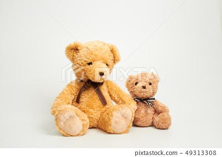 화이트 배경에 놓인 곰인형 49313308