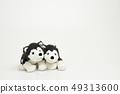 在白色背景的木偶玩偶 49313600