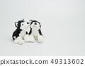 在白色背景的木偶玩偶 49313602