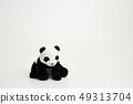 熊貓坐白色背景 49313704