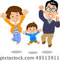 跳躍的夫婦和兒子 49313911