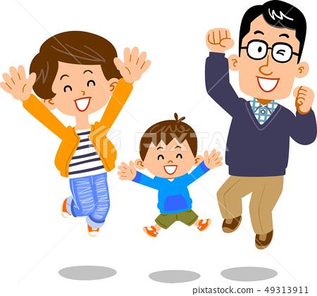 점프 부부와 아들 49313911
