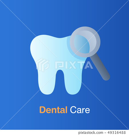 Dental care concept. Good hygiene tooth, 49316488