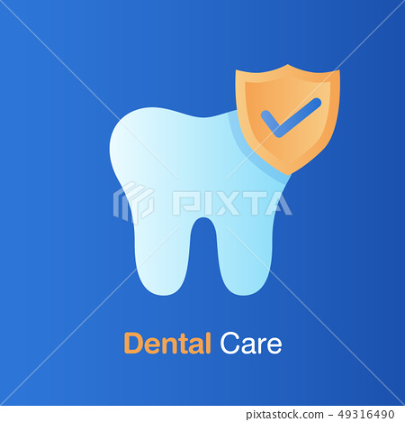 Dental care concept. Good hygiene tooth, 49316490