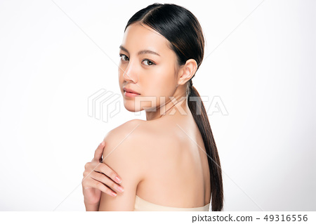Beautiful Young asian Woman with Clean Fresh Skin 49316556