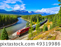 Train passing in Banff National Park,Canada 49319986