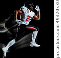 american football player man isolated black background light painting 49320530