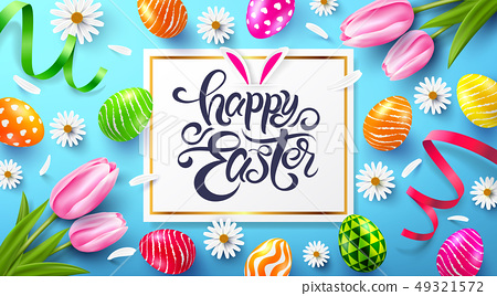 Happy Easter Poster and template 49321572