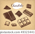 Chocolate ink sketch. 49323441