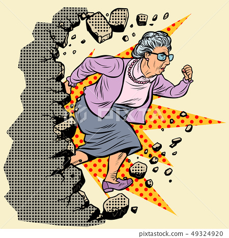 active old Granny pensioner breaks the wall of stereotypes 49324920