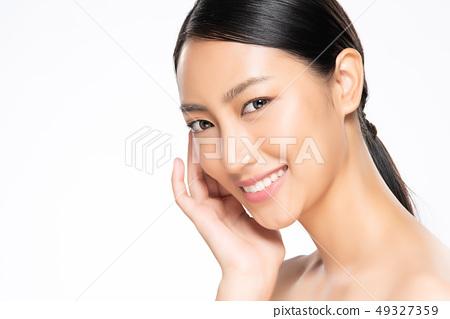 Beautiful Young asian Woman with Clean Fresh Skin 49327359